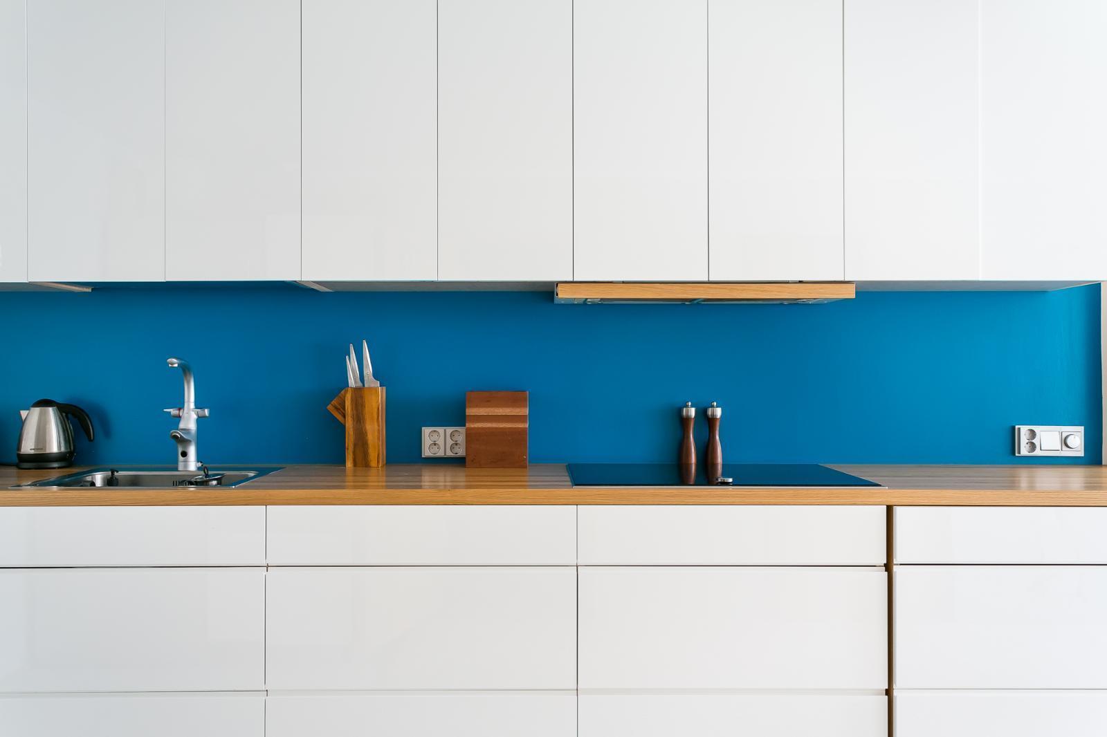 keittiön välitila moderni sininen