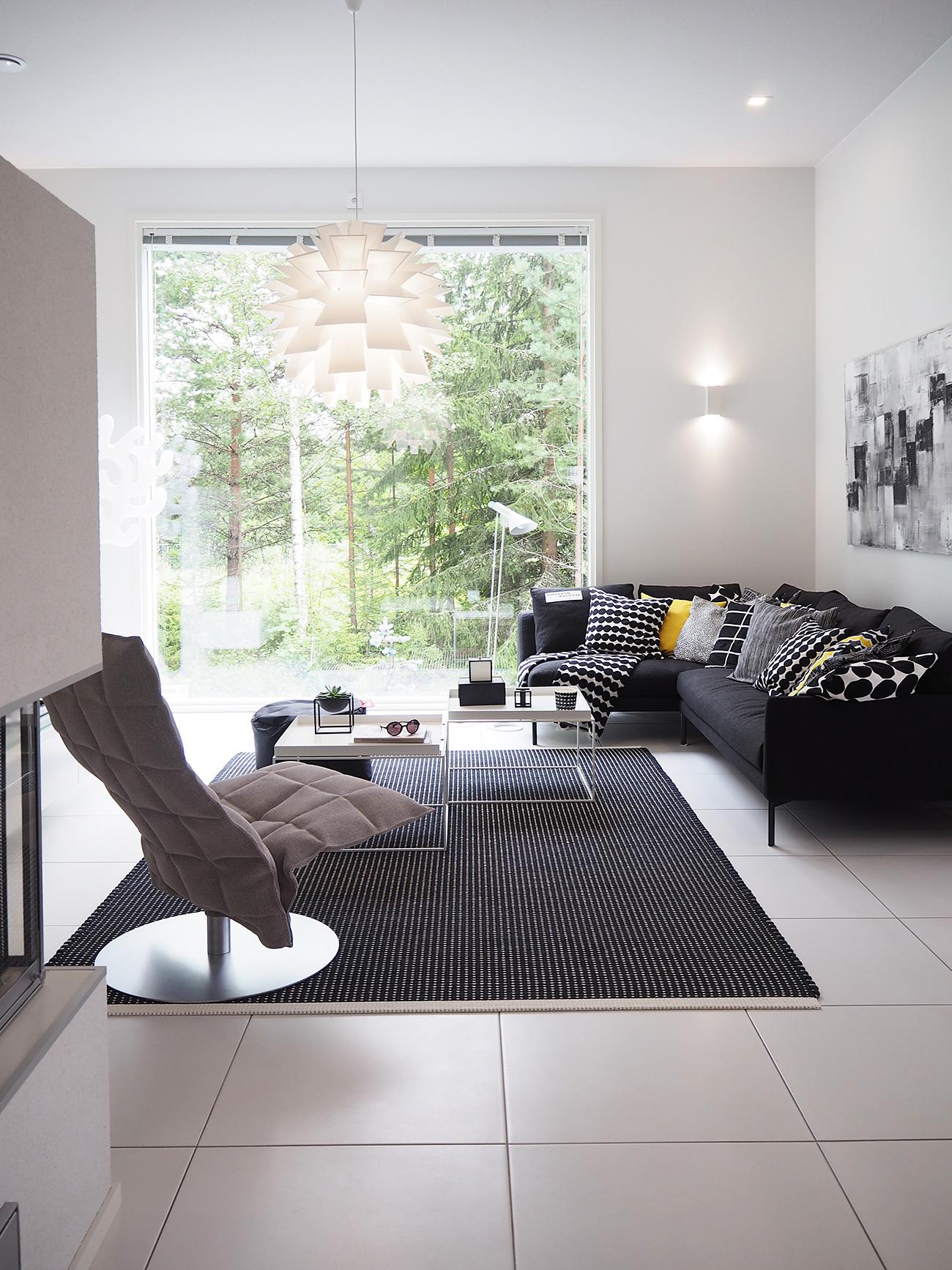 Olohuone kohteessa Cubo, Asuntomessut 2016 Seinäjoki