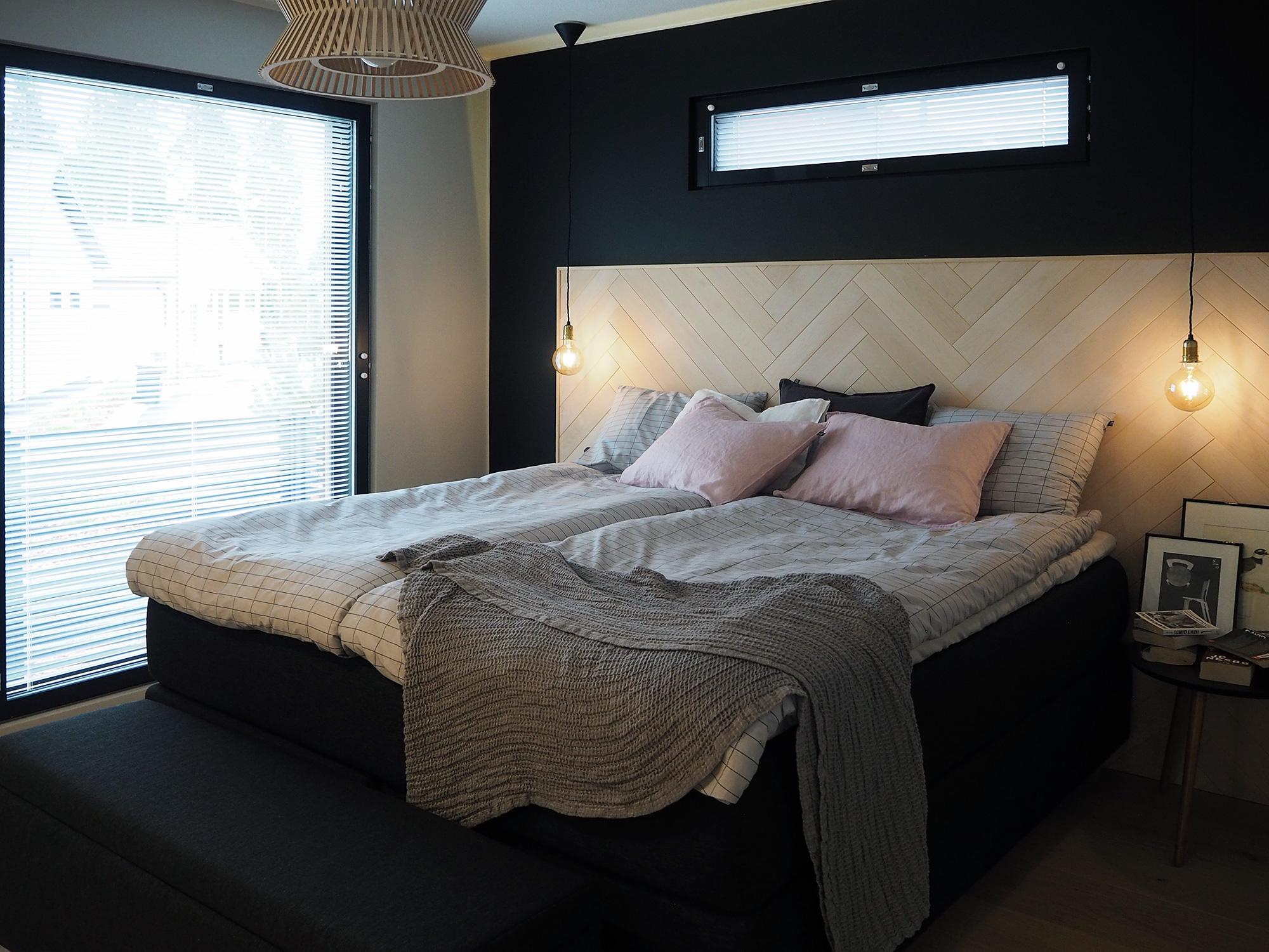 Makuuhuone kohteessa Suola ja pippuri, Asuntomessut 2016