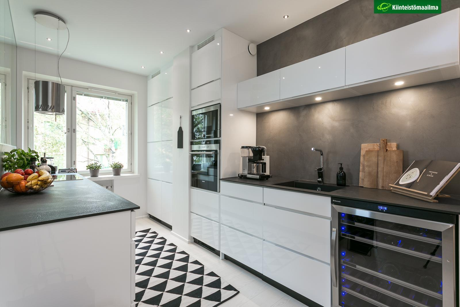 Kaksion moderni keittiö  Etuovi com Ideat & vinkit
