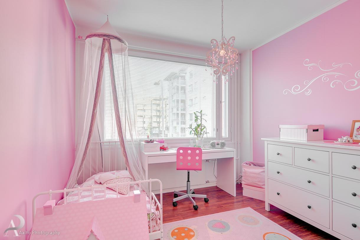 Vaaleanpunainen tytön huone  Etuovi com Ideat & vinkit