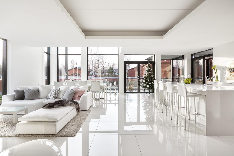 Valoa ja avaruutta modernissa kodissa  Etuovi com Ideat & vinkit