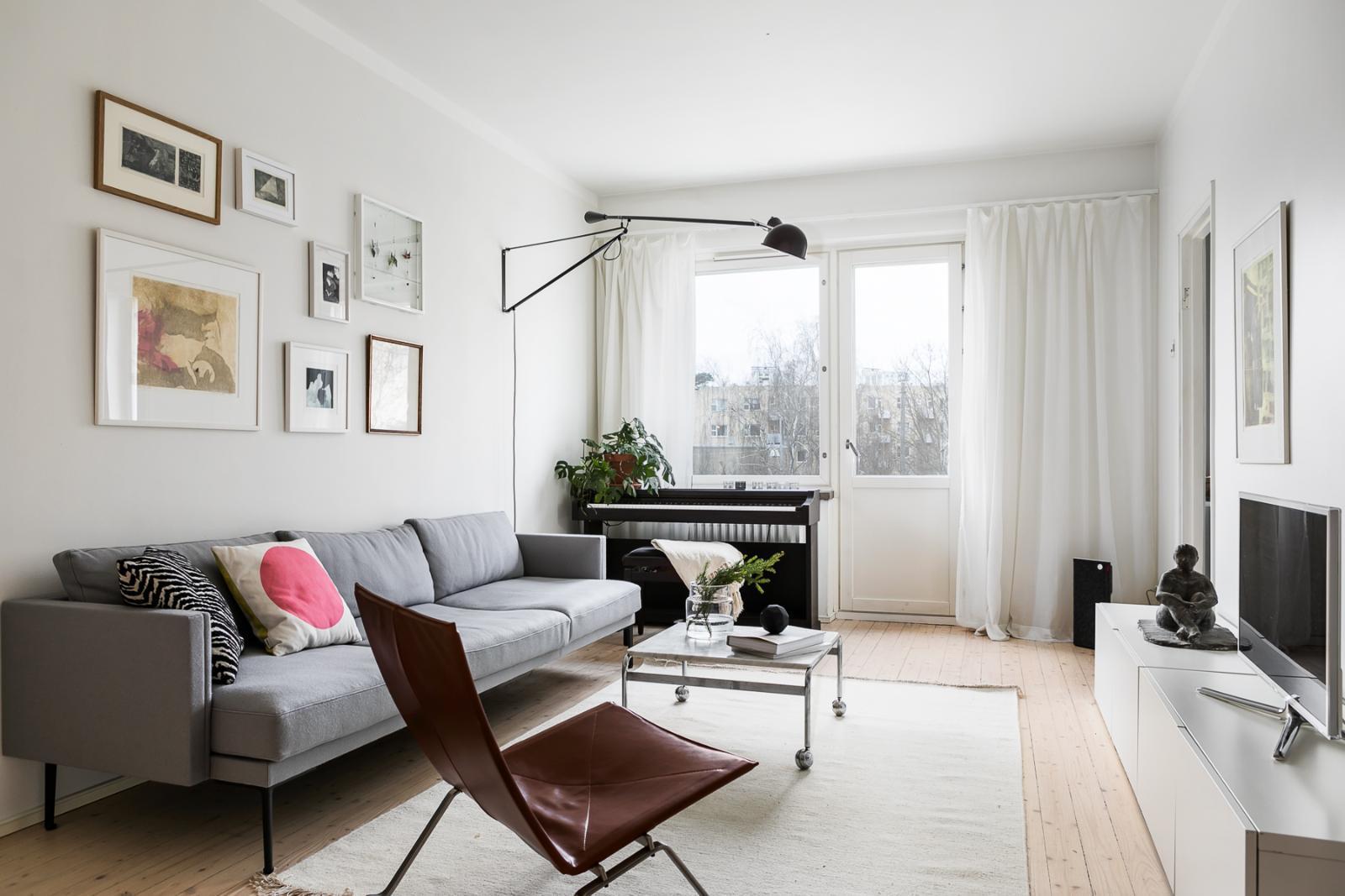 Skandinaavista selkeyttä olohuoneessa  Etuovi com Ideat & vinkit