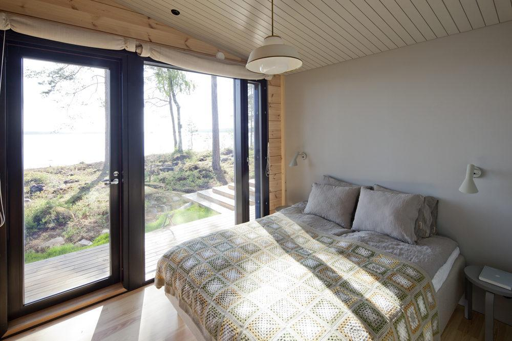 Vapaa-ajan asunnot Mäntyharju Lokki makuuhuone