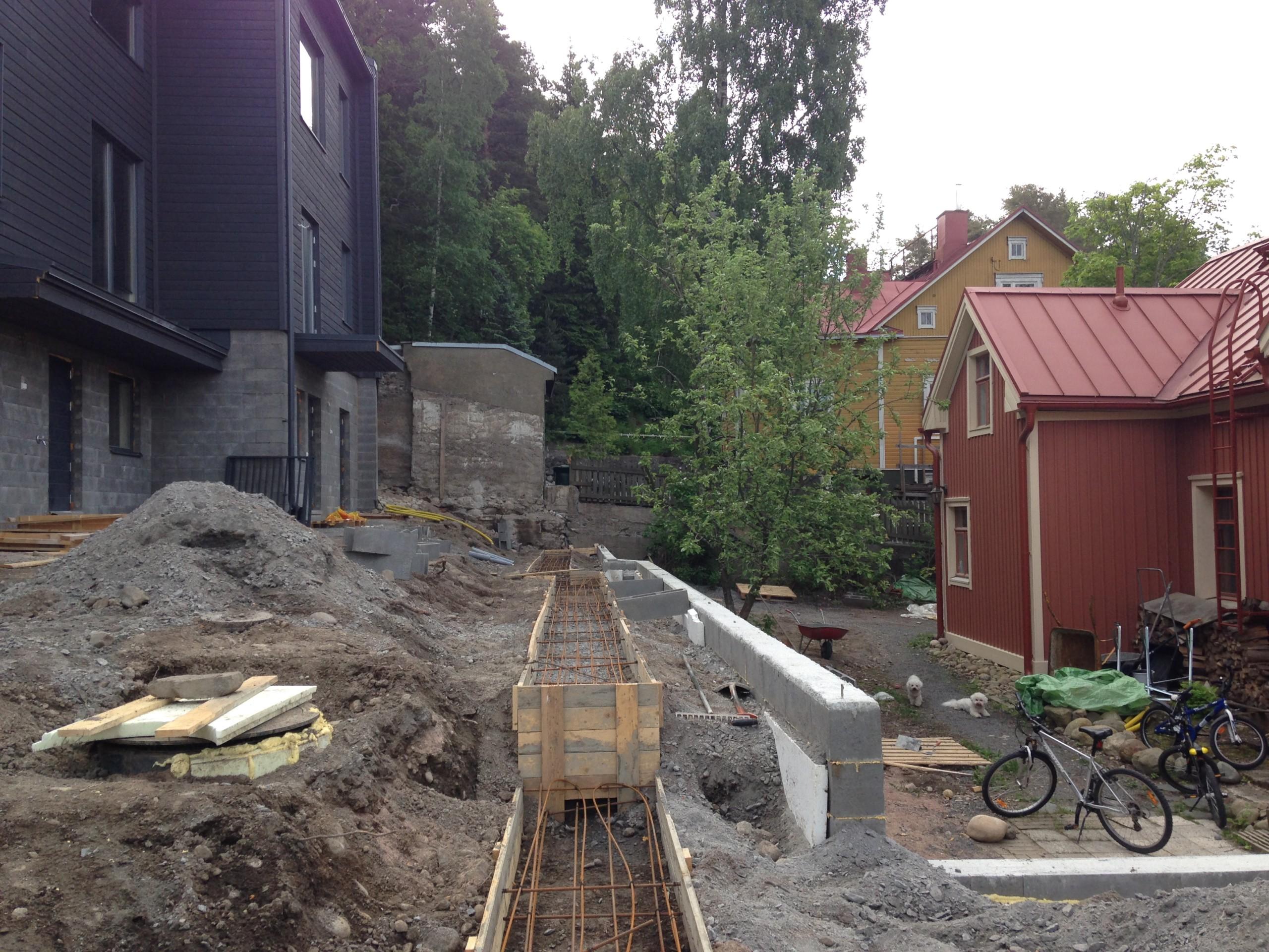 Käyttöönottotarkastus - pihatyöt ja muurit