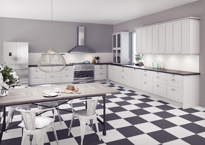 Linoleum-lattia - Epoq-keittiö