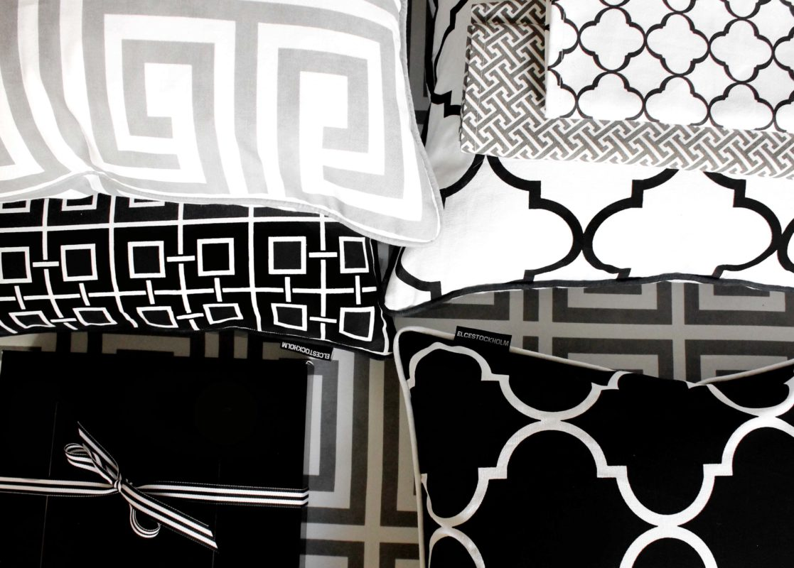 Elce Living - mustavalkoiset tekstiilit