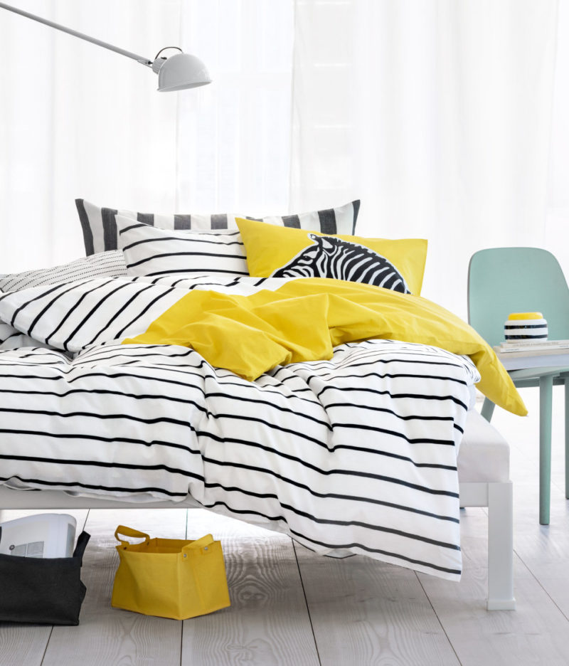 H&M Home - keltaista makuuhuoneessa
