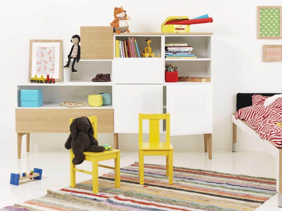 Keltaista lastenhuoneessa - Lundia