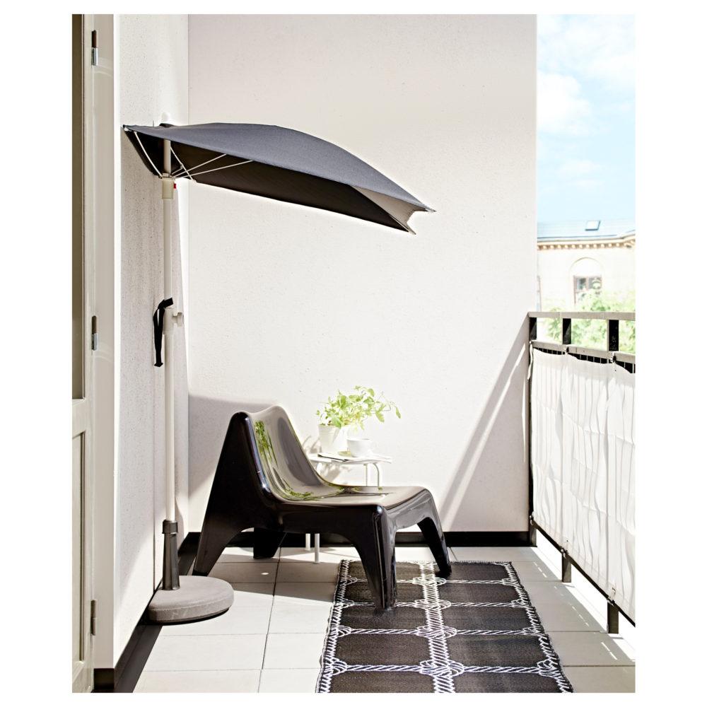 IKEA, Flisö-aurinkovarjo, musta