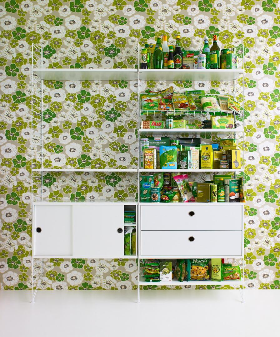 Kukkatapetti keittiössä - Room21