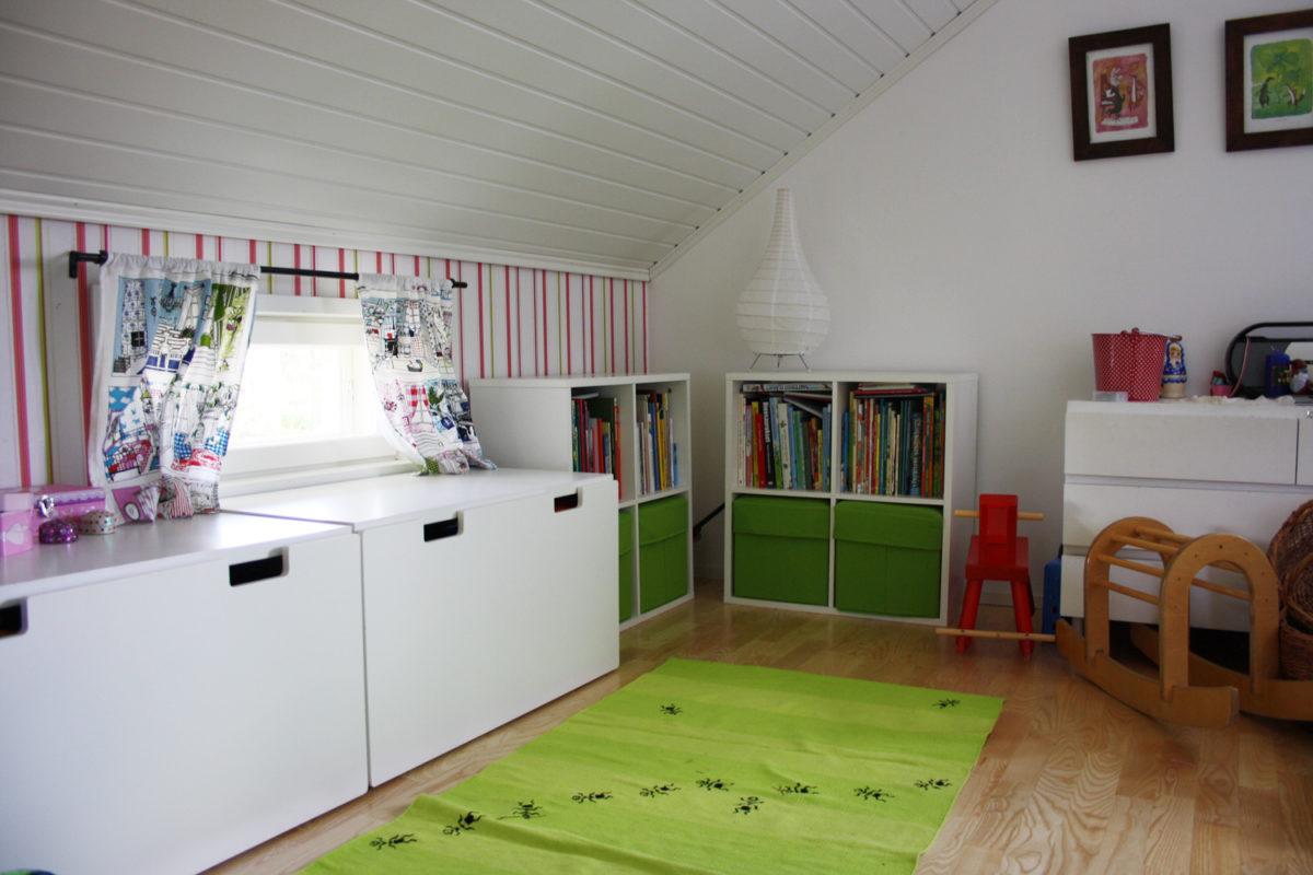 Rintamamiestalon remontti - valmis lastenhuone