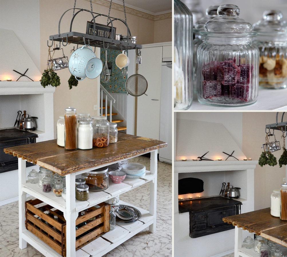 keittiö, rustiikkinen, maalaisromanttinen, leivinuuni