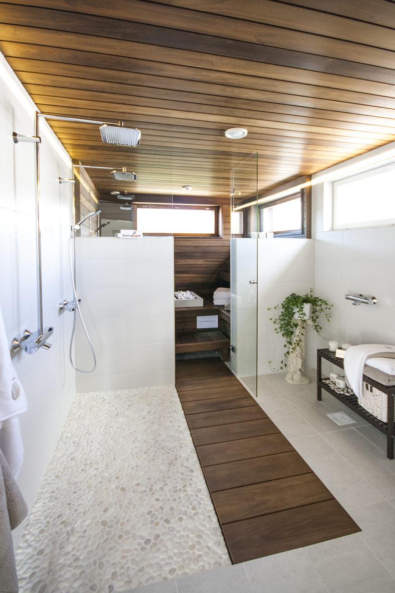 kylpyhuone, sauna, Tecra Tiger, Asuntomessut 2015 Vantaa
