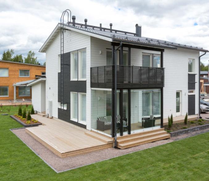 Kohde 15 Dekotalo 192 julkisivu - Asuntomessut 2015 Vantaa