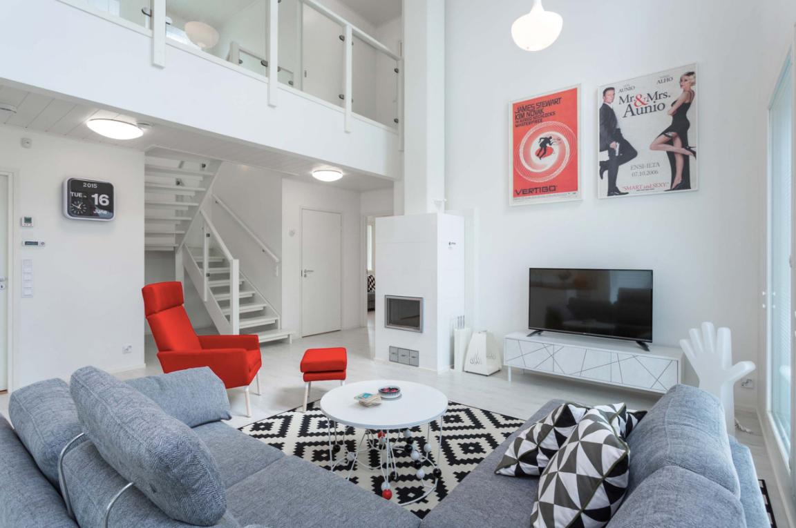 Kohde 15 Dekotalo 192 olohuone - Asuntomessut 2015 Vantaa