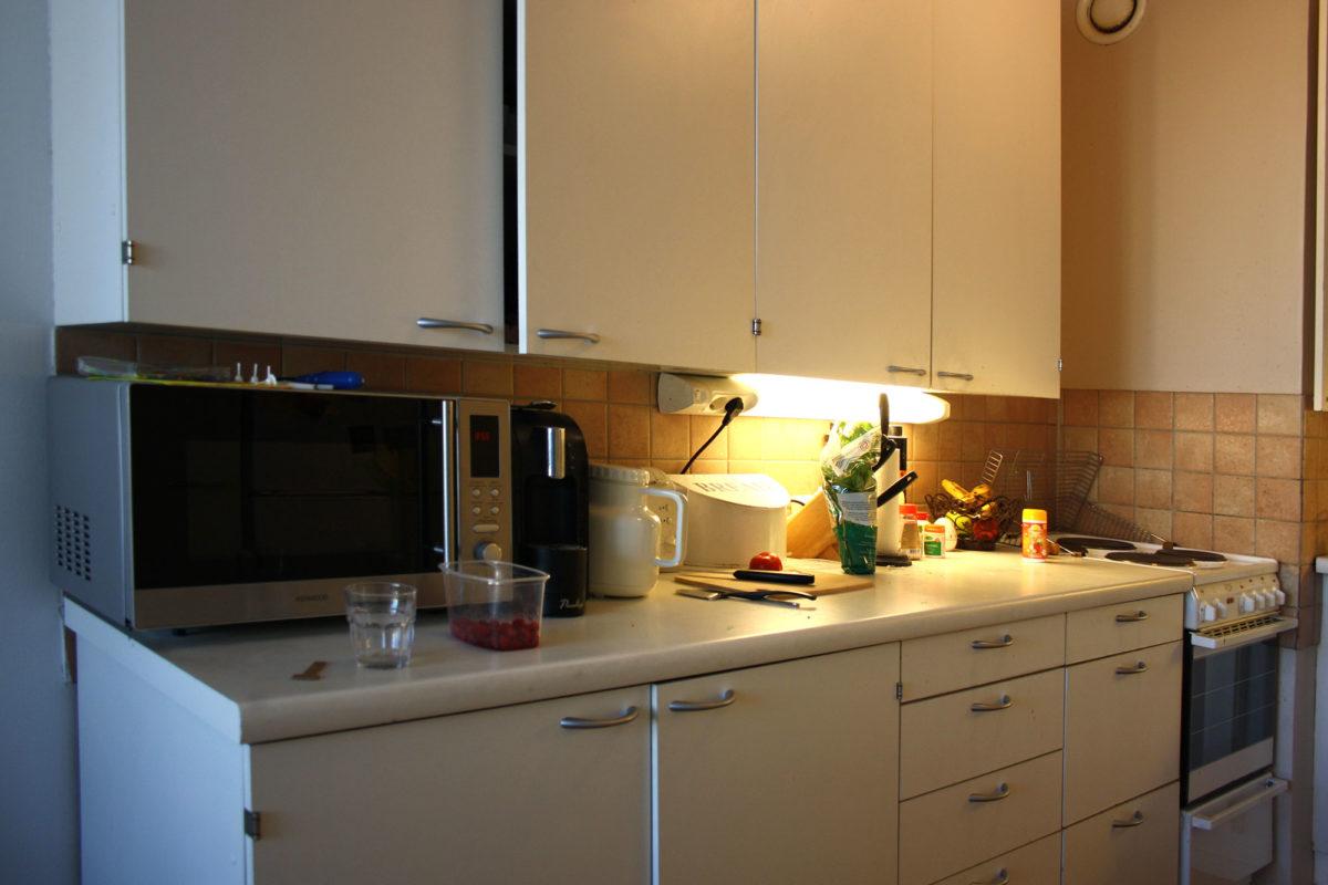 Keittiöremontin lähtötilanne