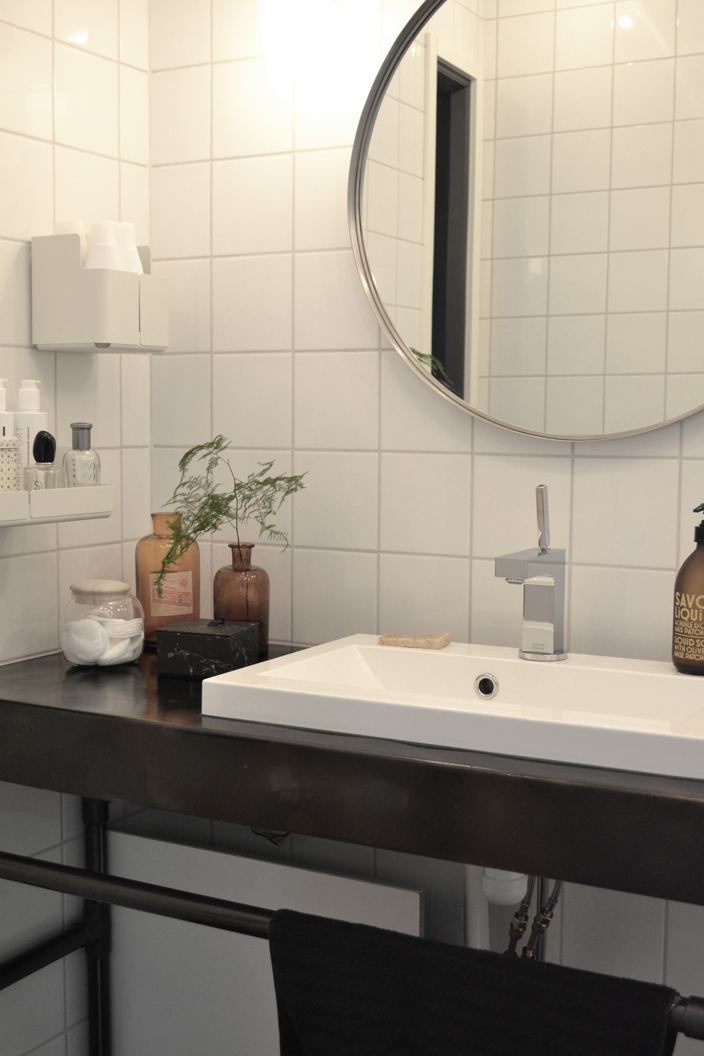 Teollinen tyyli kylpyhuoneessa