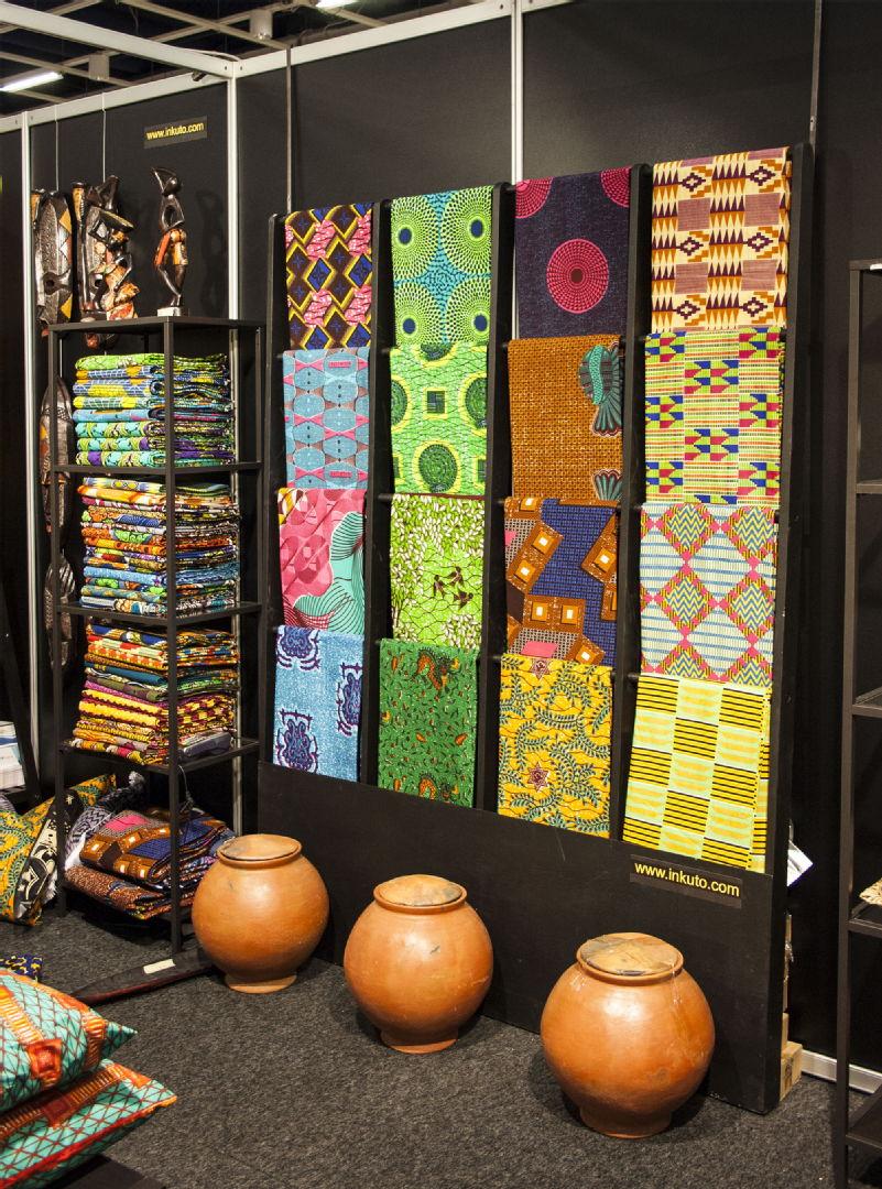 Inkuton afrikkalaiset tekstiilit - Habitare 2015
