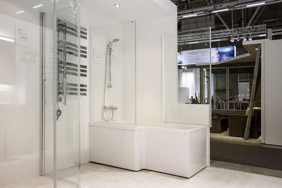 Suihkukulman ja kylpyammeen yhdistelmä - Habitare 2015
