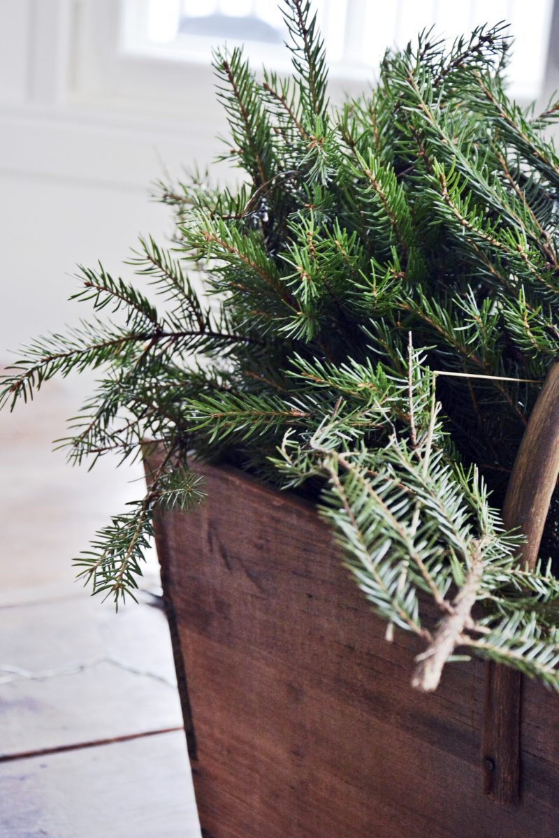 DIY joulukranssi havuista