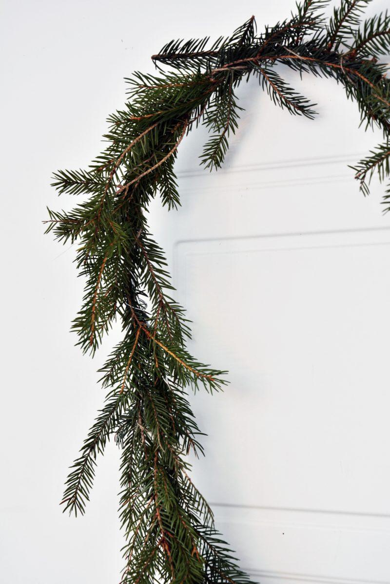 DIY joulukranssi sydän havuista