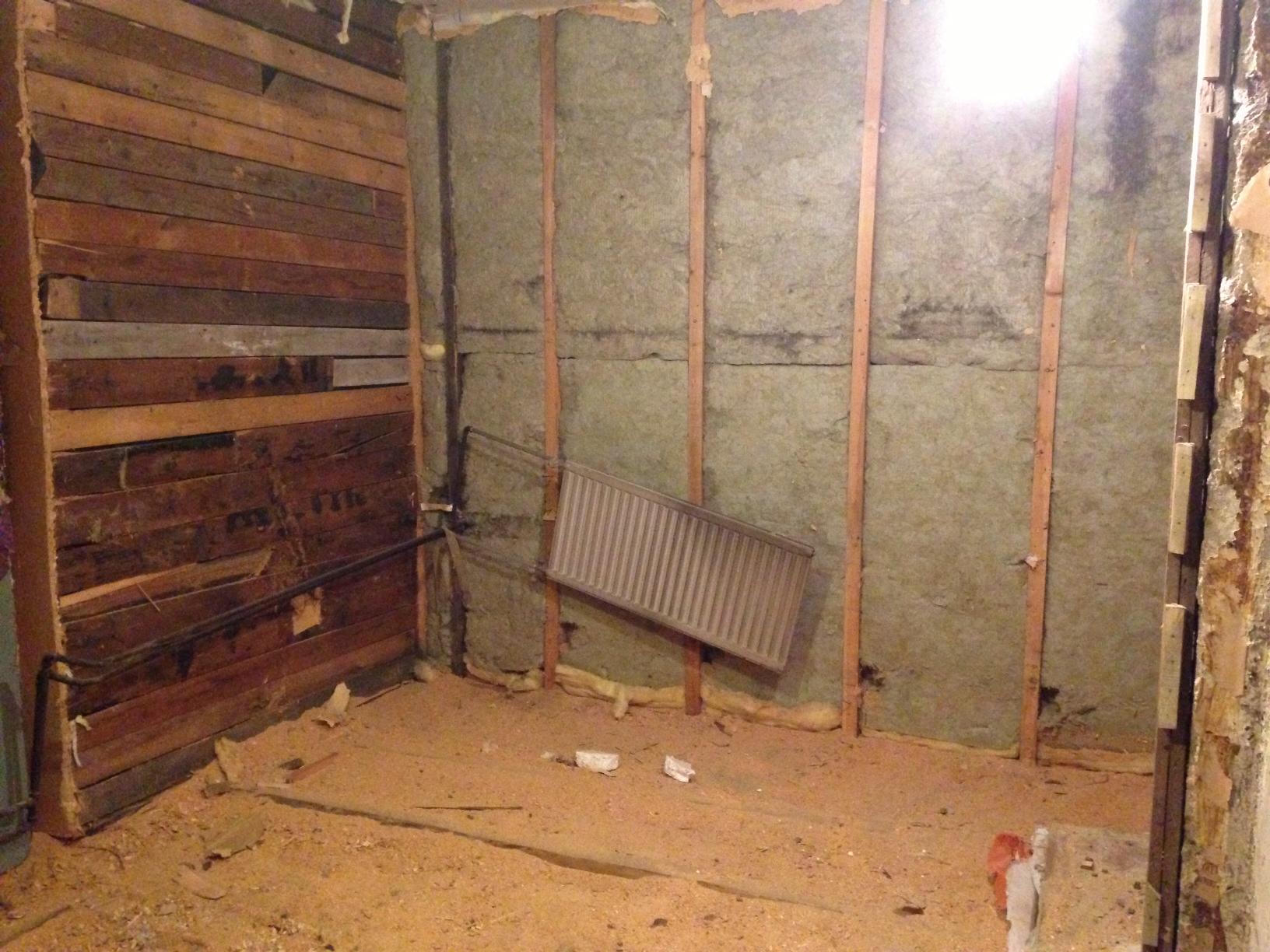 saunan remontti - ennen remonttia