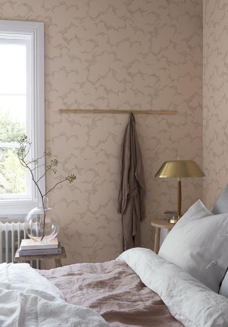 BoråsTapeter Wonderland 1457 Molntuss tapetti makuuhuoneessa