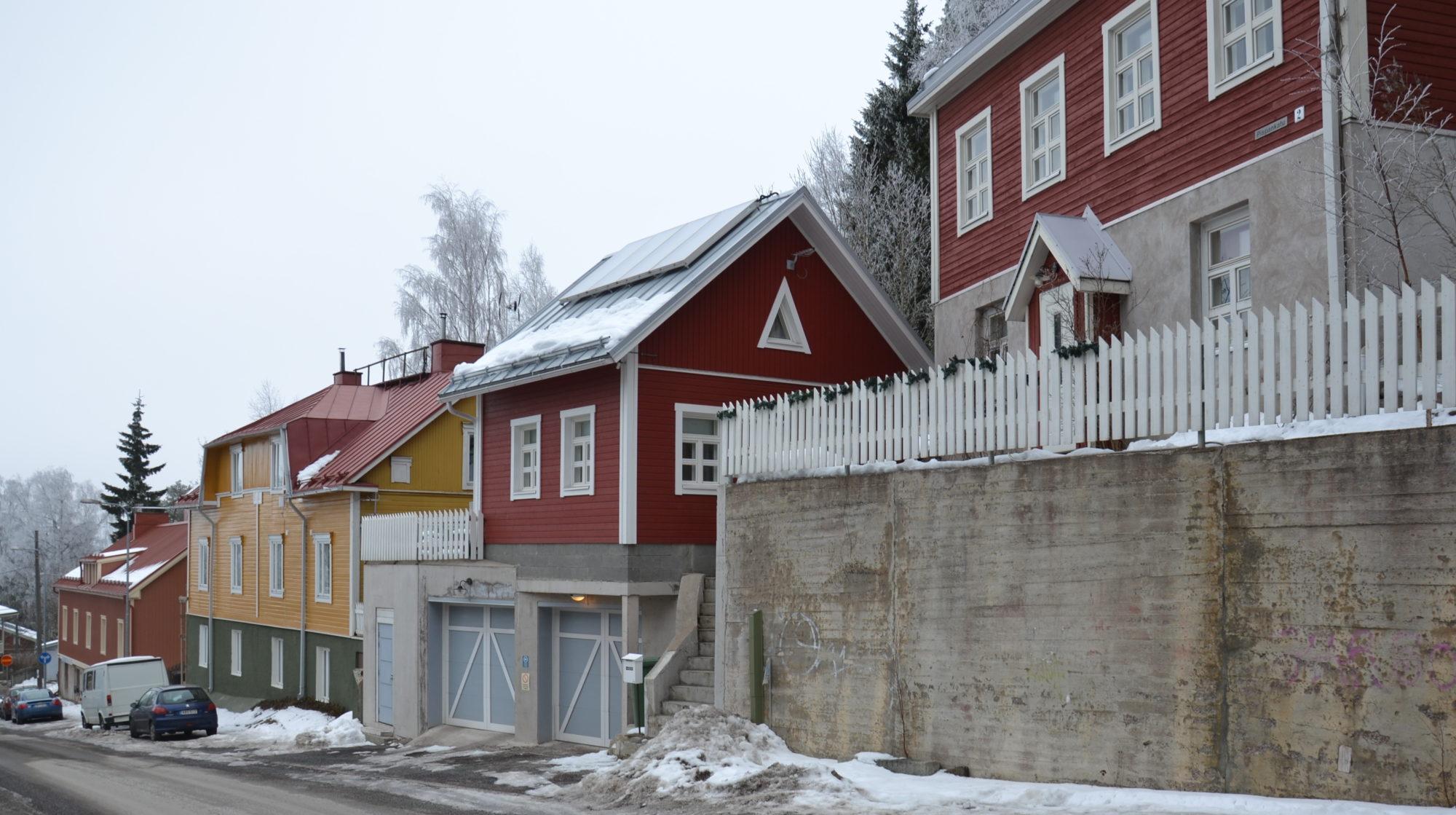 Nykyarkkitehtuuri vanhalla asuinalueella