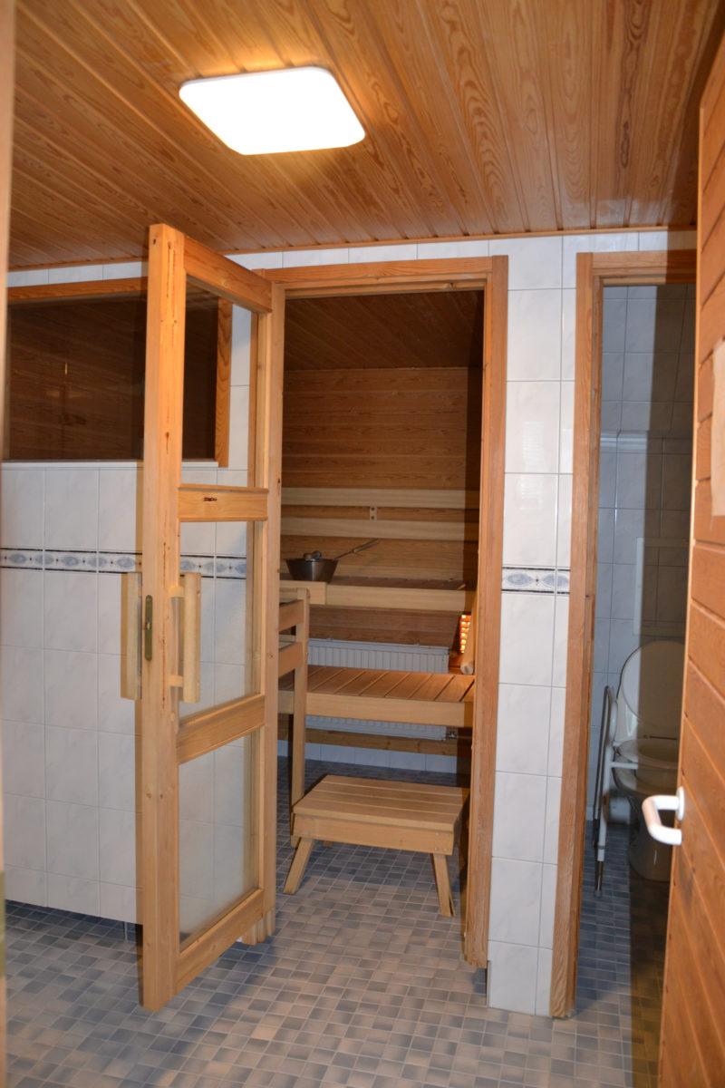 käynti saunaan ennen