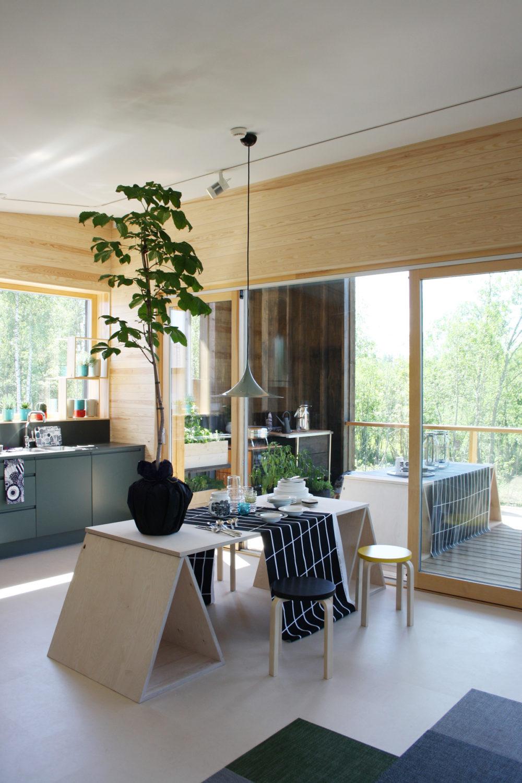 Asuntomessut 2014 Jyväskylä, Skammin talo ruokailutila