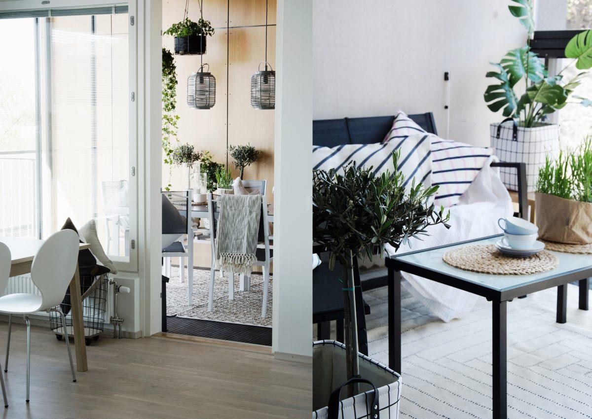 Kakolan asuntojen kauniit parvekkeet