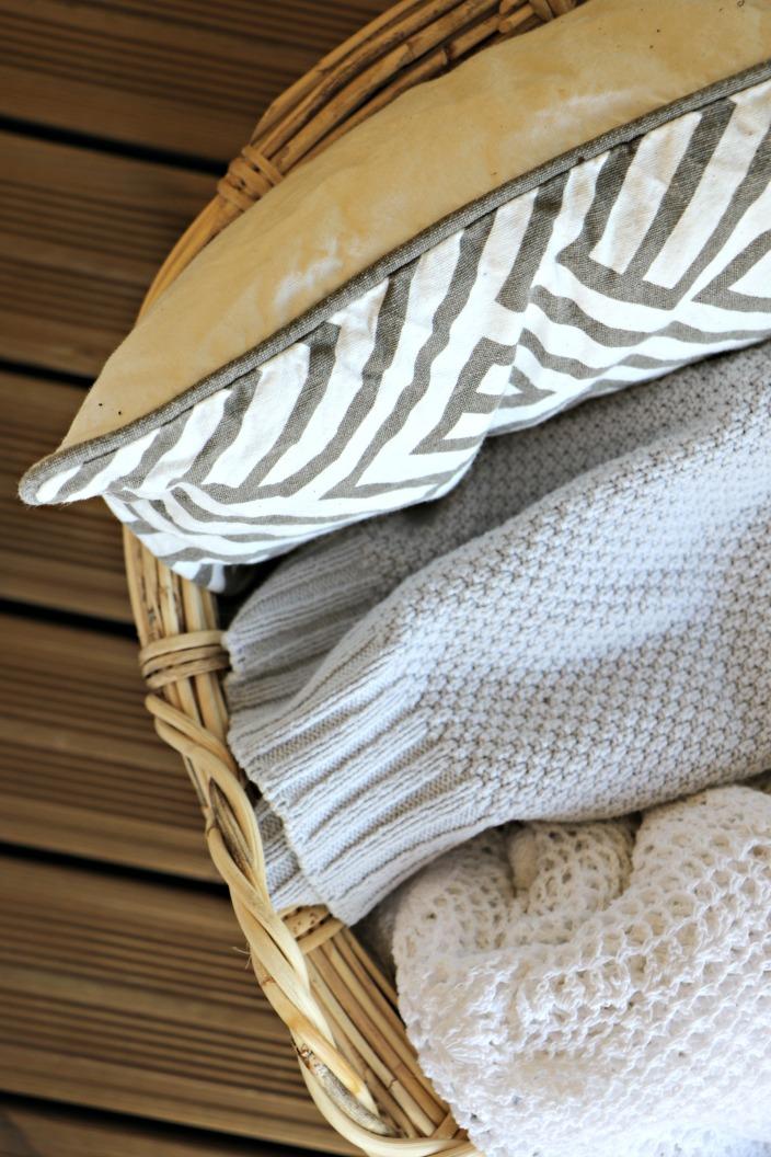 terassin kesäilme tekstiileillä
