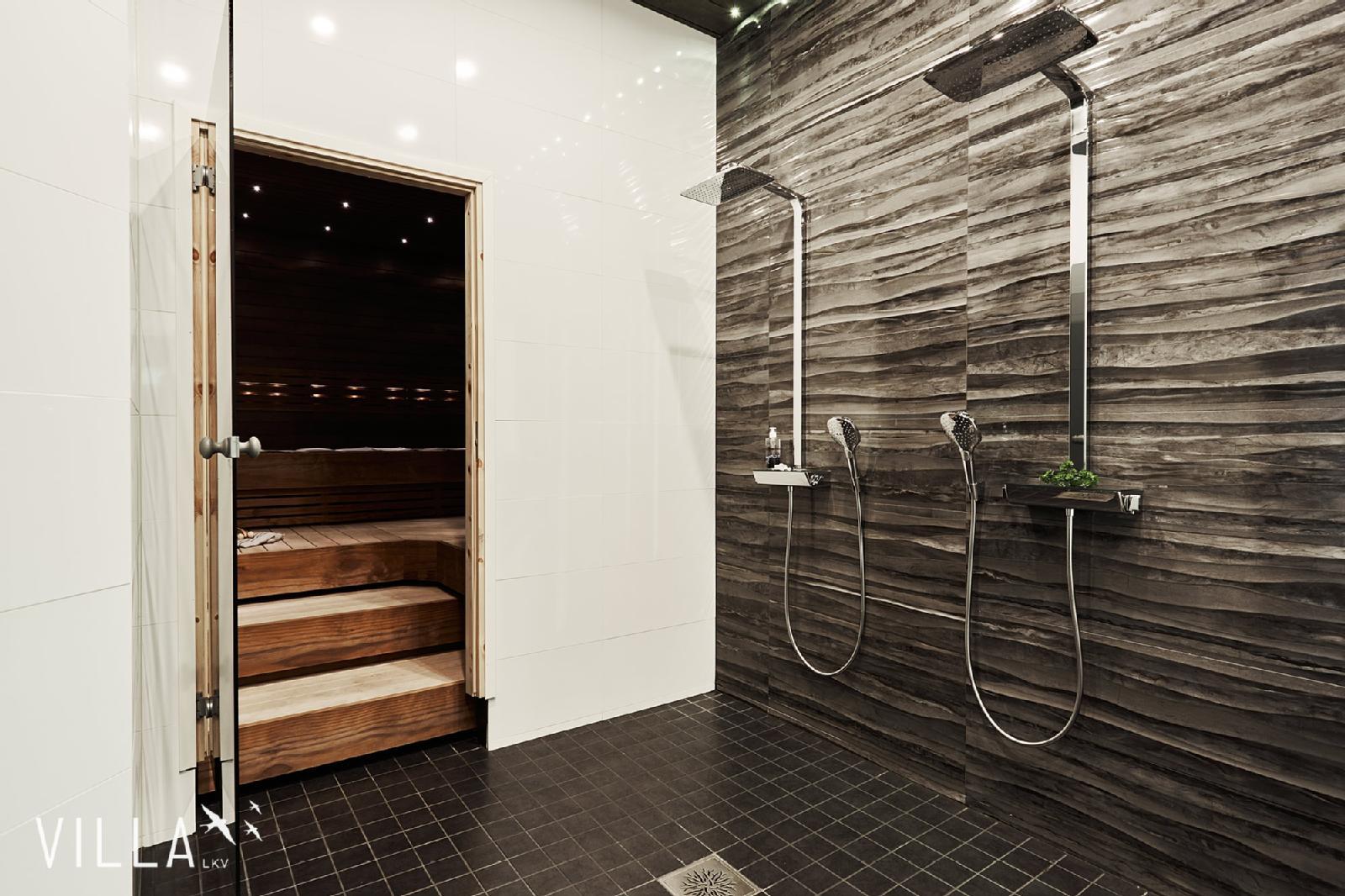 Näyttävät laatat sekä sadesuihkut kylpyhuoneessa  Etuovi com Ideat & vinkit