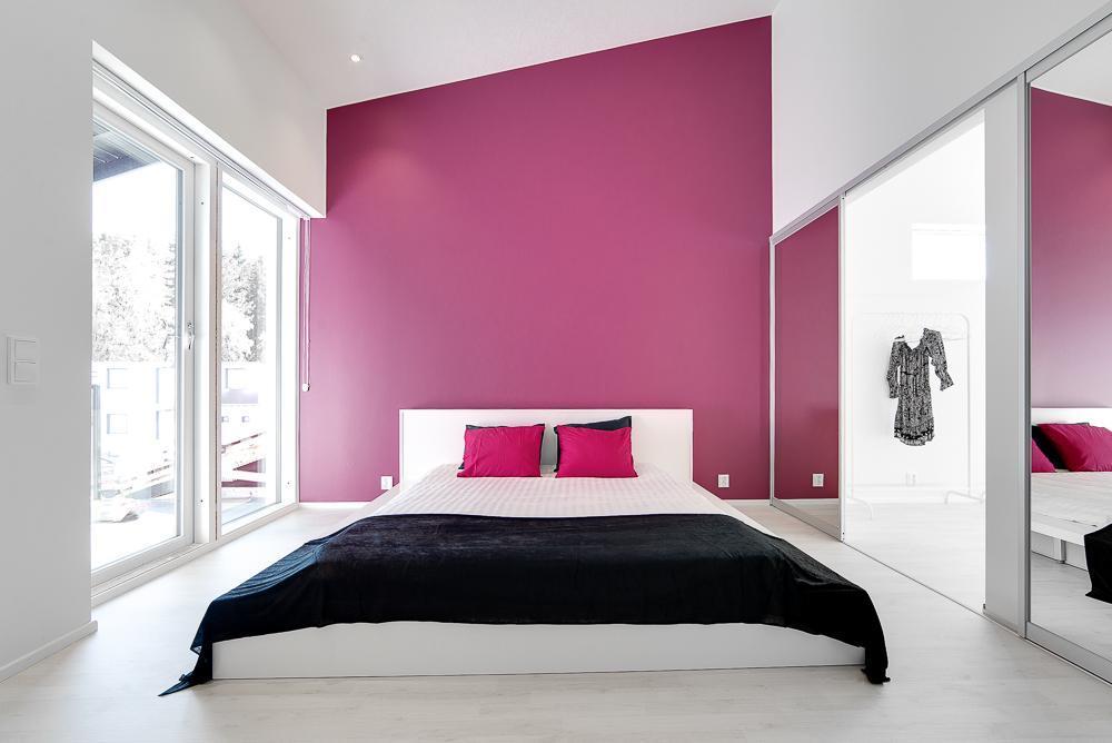 makuuhuoneen värit pinkki