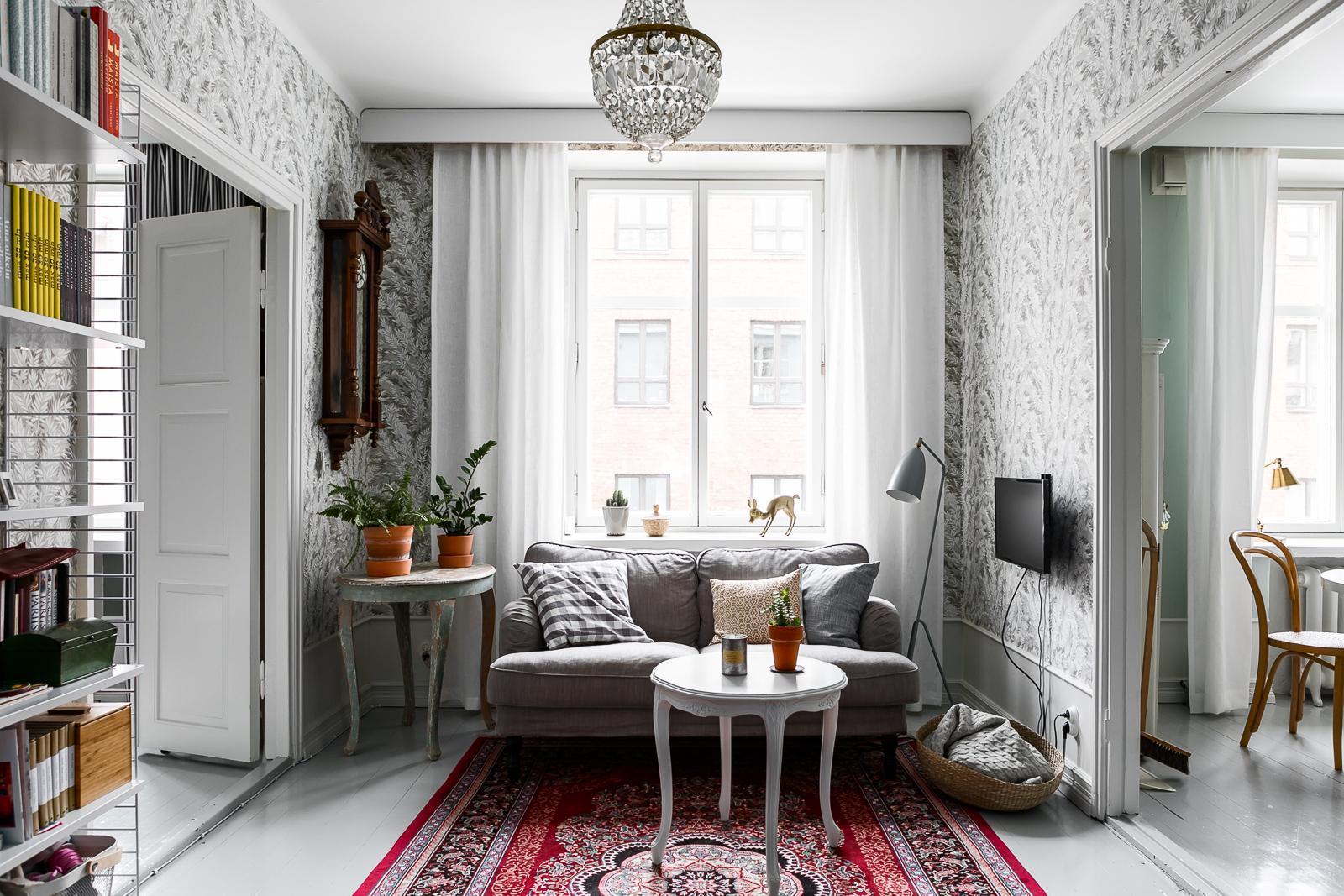 Viihtyisä pieni olohuone  Etuovi com Ideat & vinkit