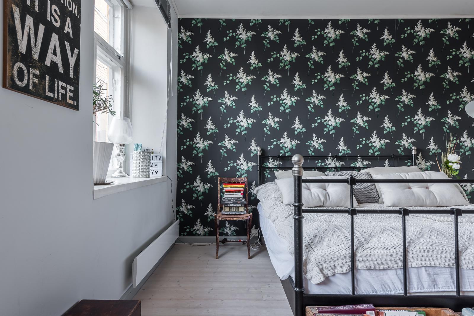 Kaunista kukkatapettia makuuhuoneessa  Etuovi com Ideat & vinkit