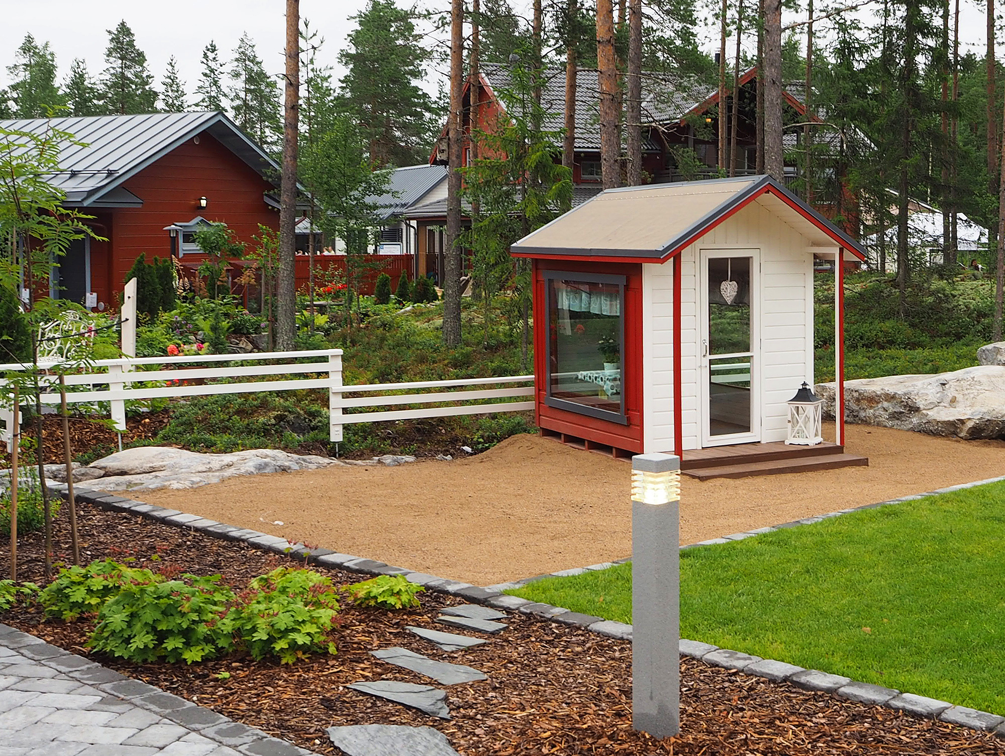 Leikkimökki kohteessa Villa Roihu, Asuntomessut 2016 Seinäjoki
