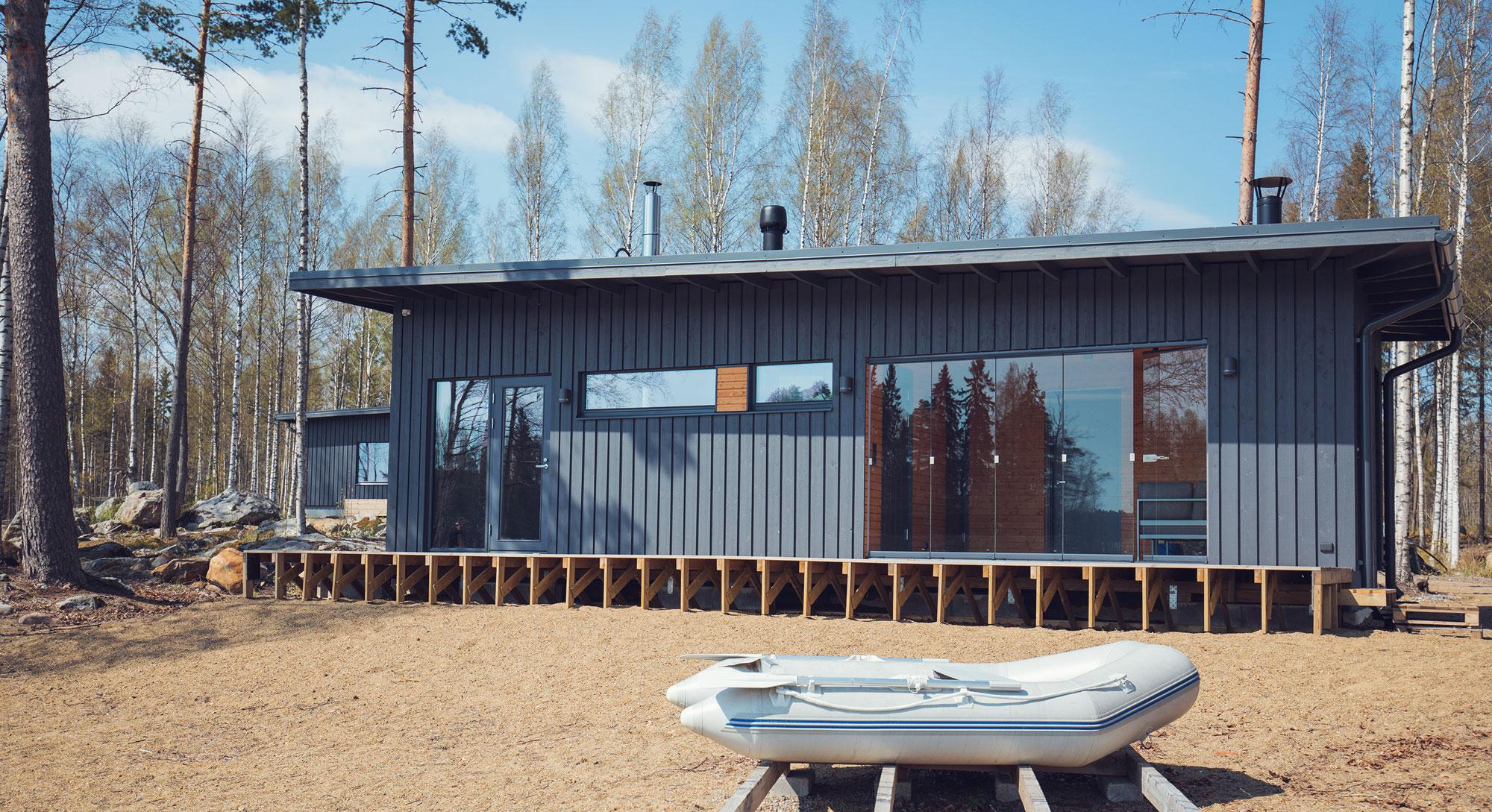 arkkitehti on huomioinut terassilasit talon suunnittelussa