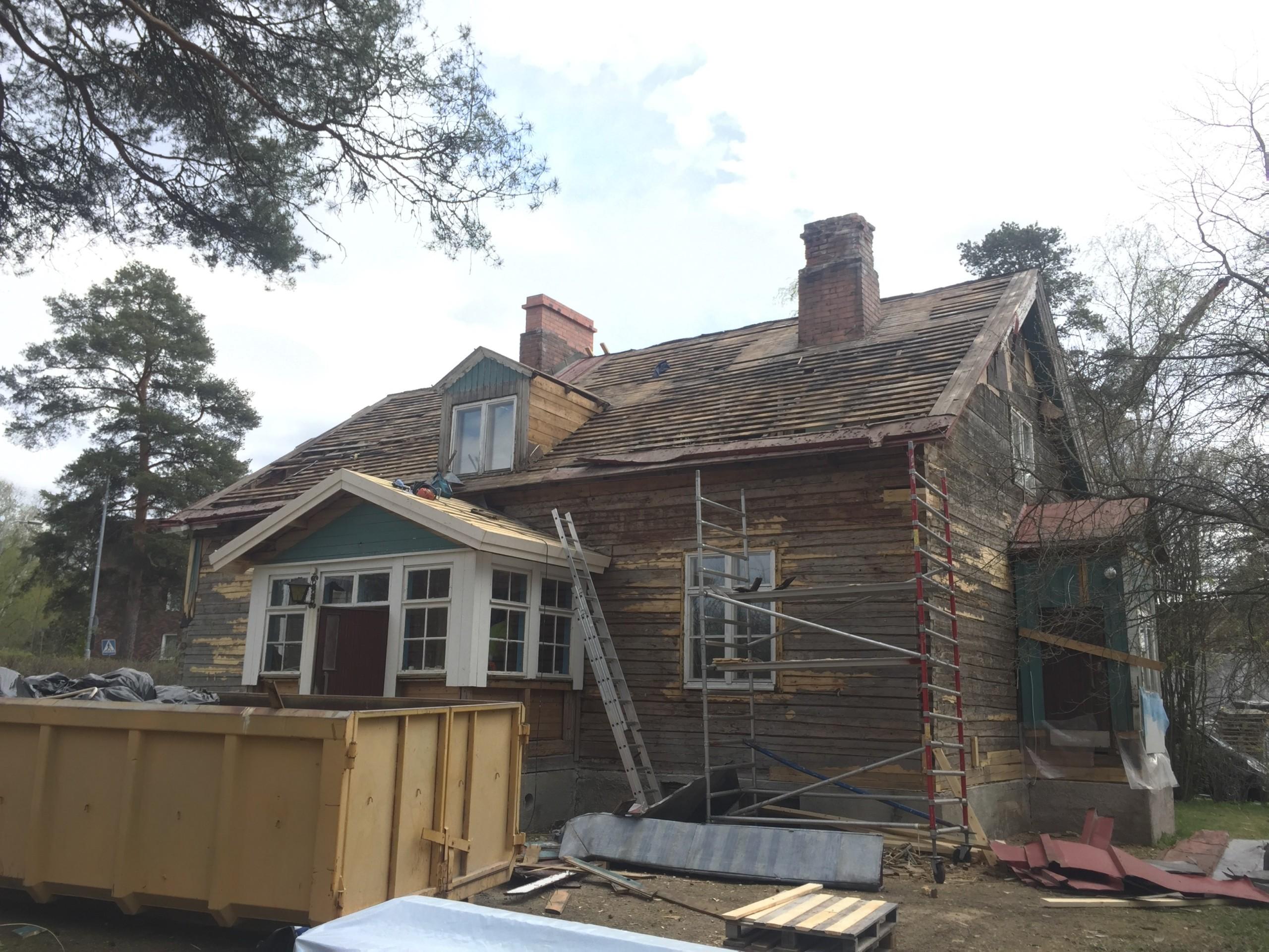 Pasi Raskun vanhan talon hurja remontti