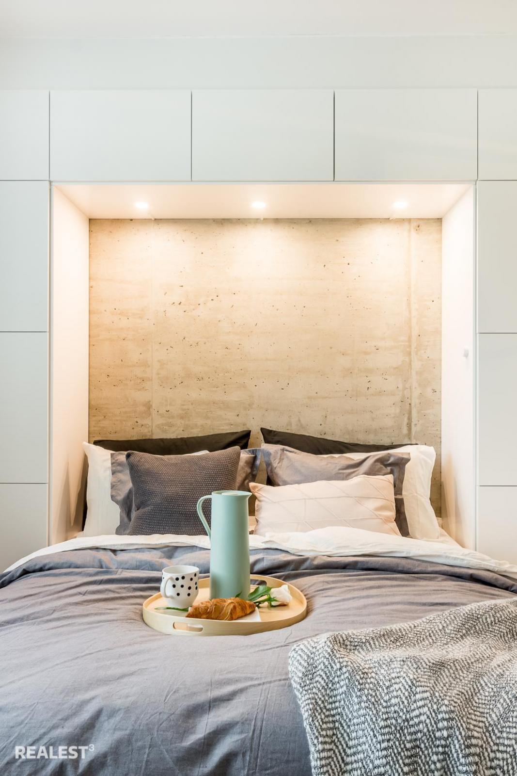pienen makuuhuoneen sisustus