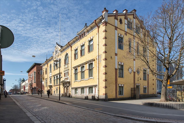 vanha talo Hämeenlinnan keskustassa