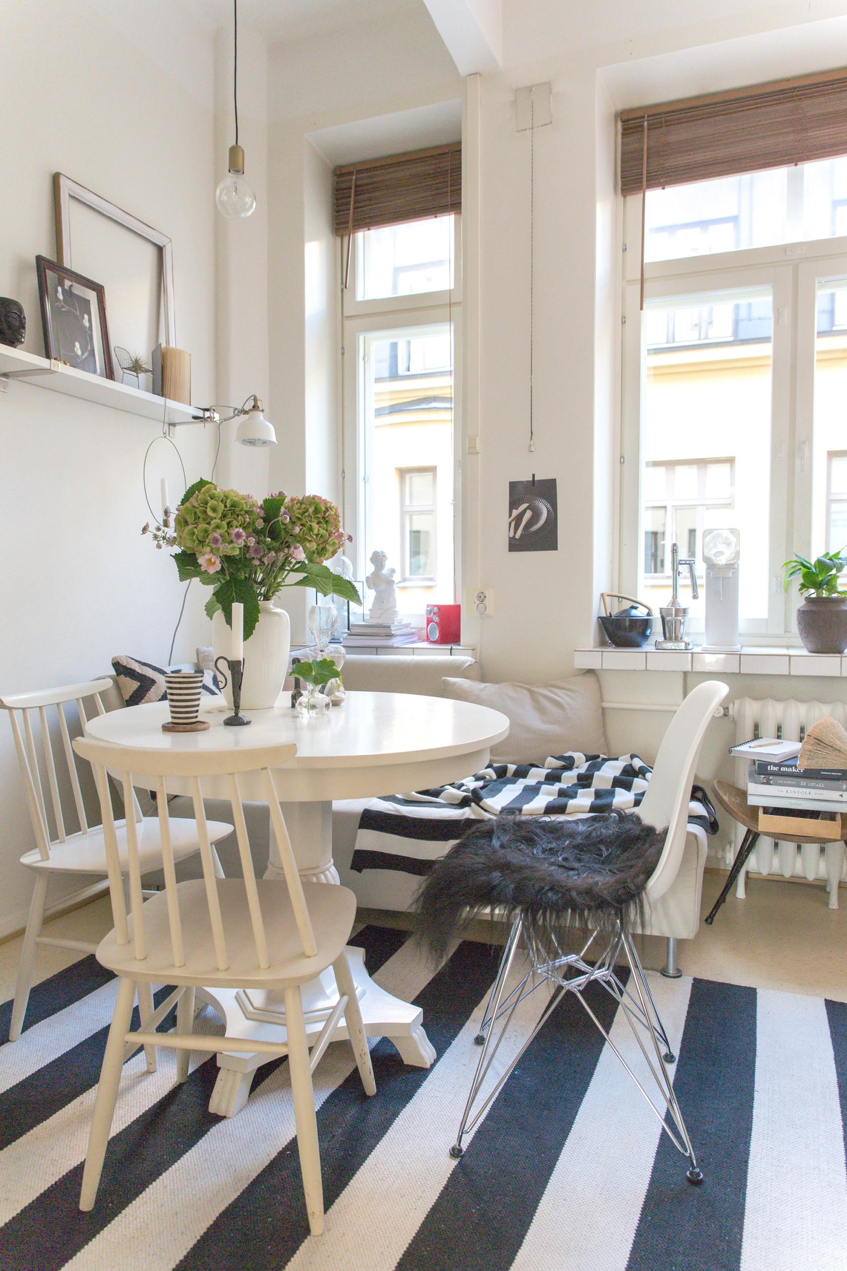 stylistin koti, keittiö ja ruokailutila