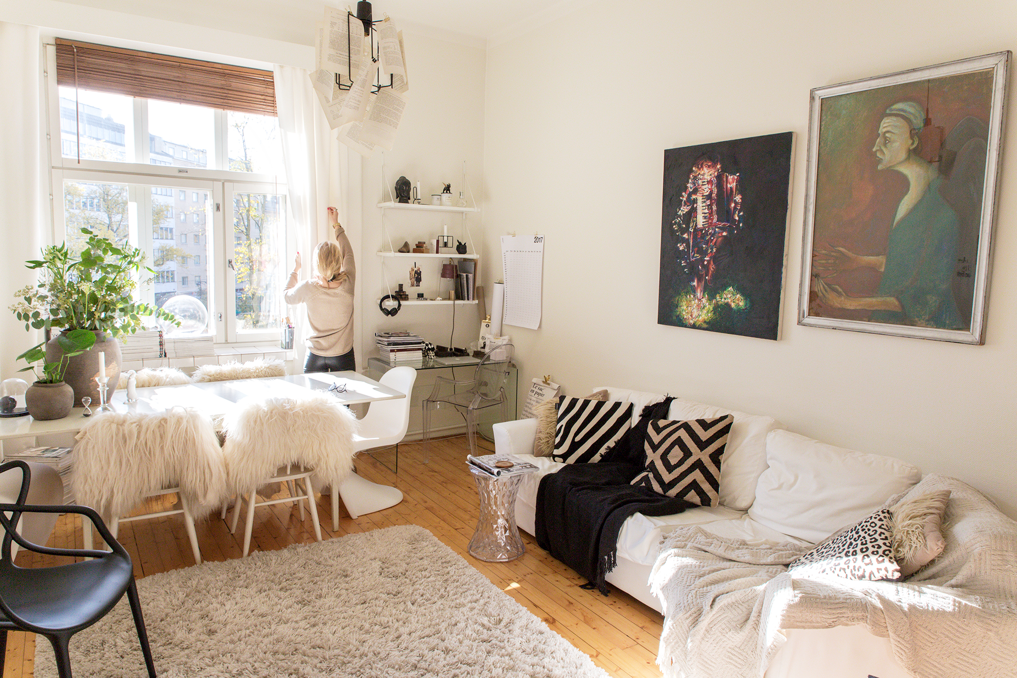 stylistin koti olohuone