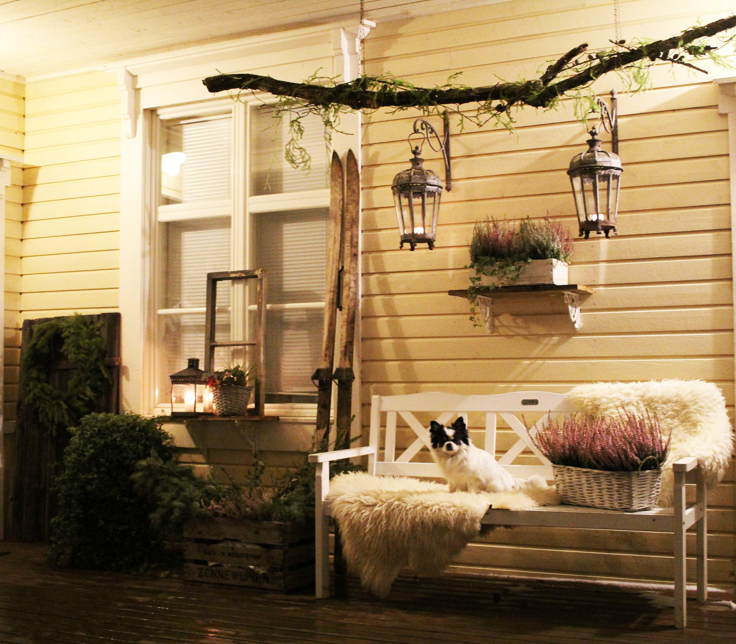 maalaisromanttinen koti terassi