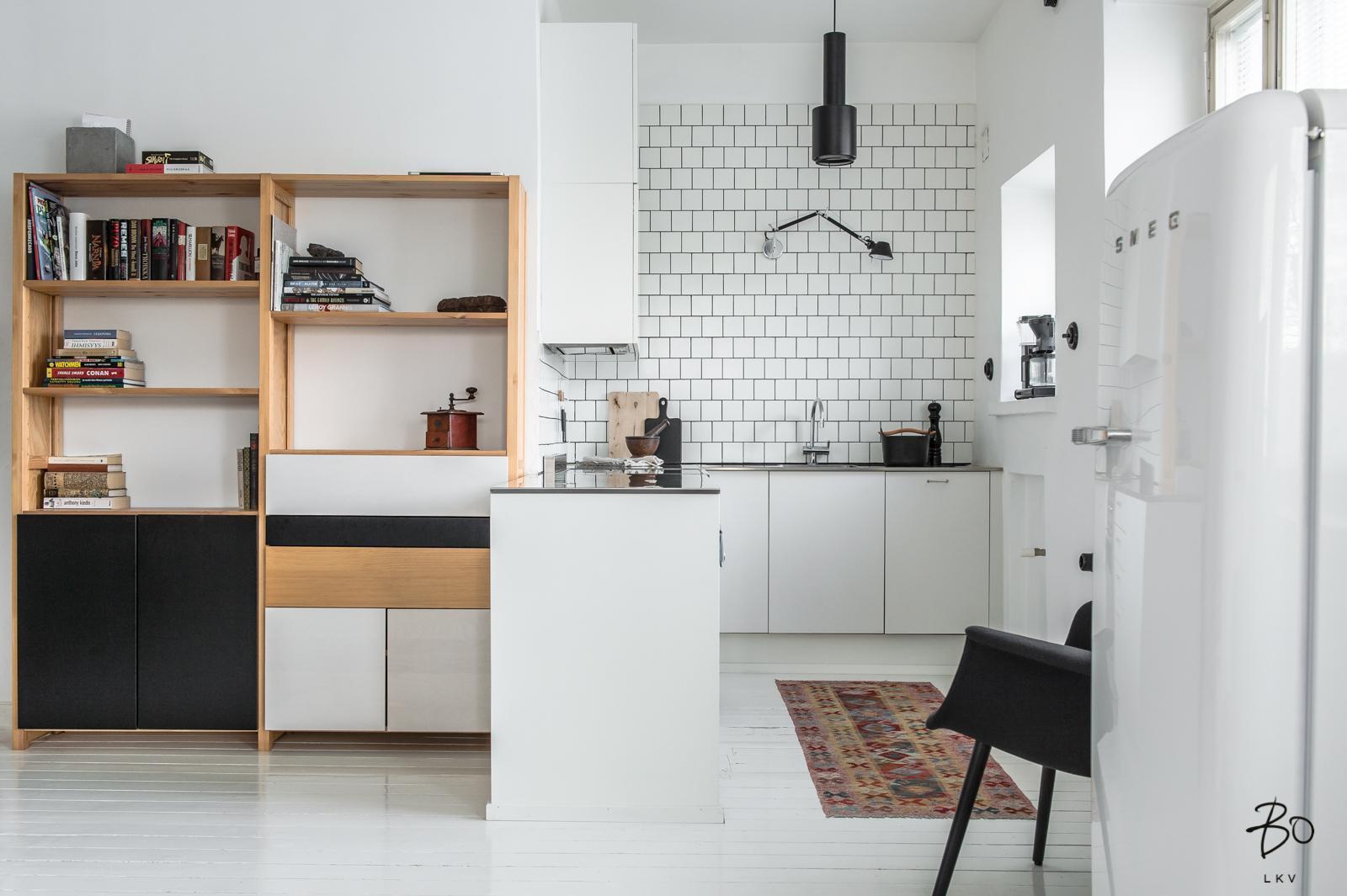skandinaavinen pieni keittiö