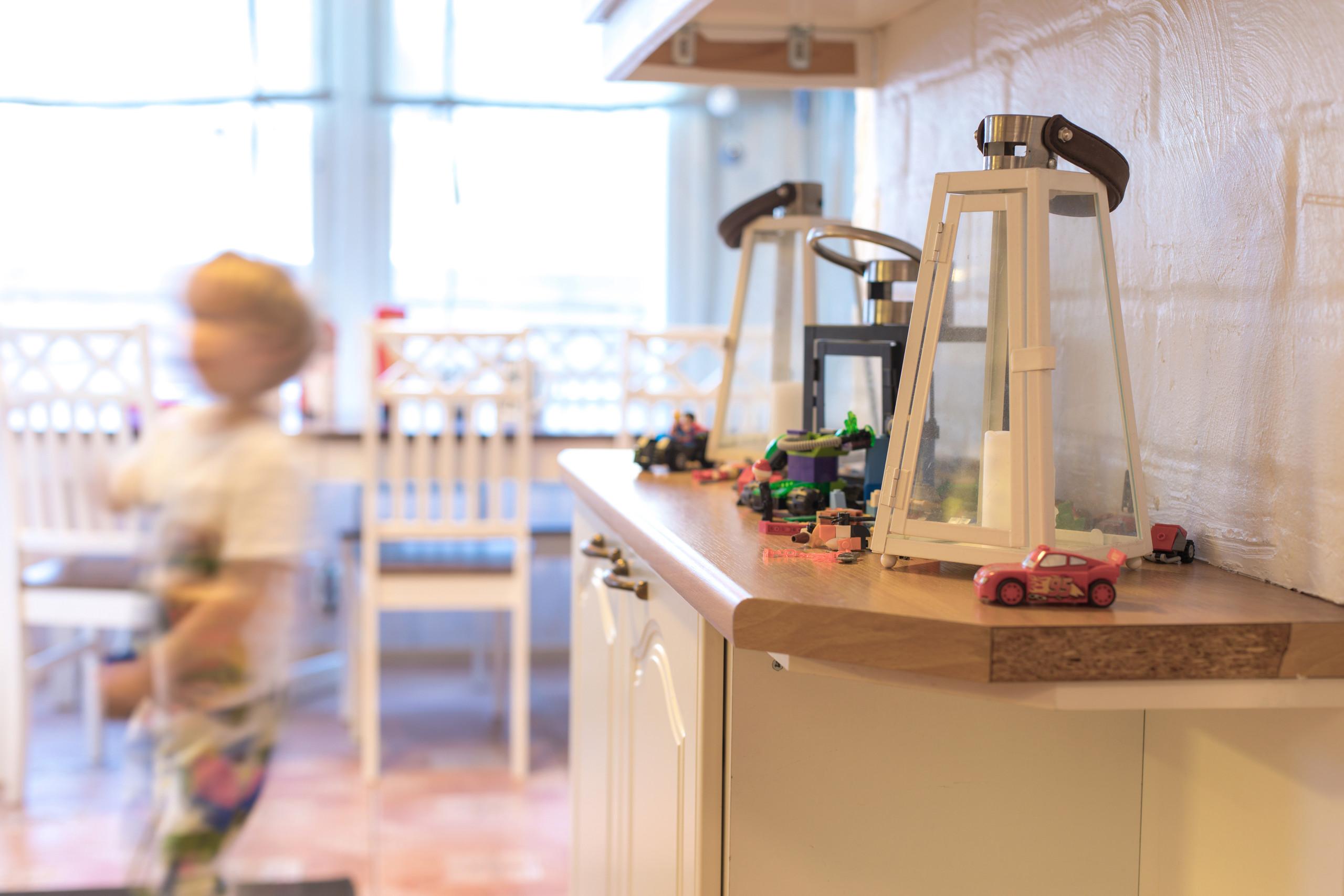 lapsiperheen koti keittiö