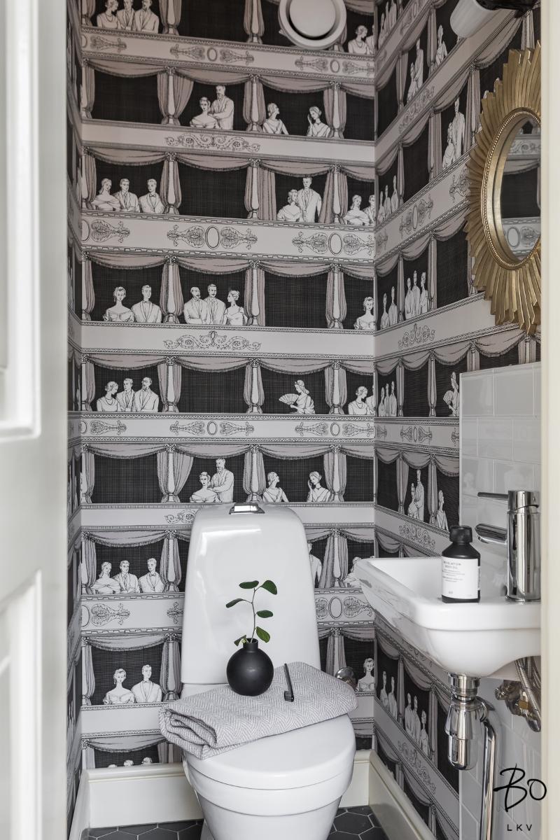 näyttävä tapetti wc
