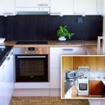 keittiön remontti ennen ja jälkeen