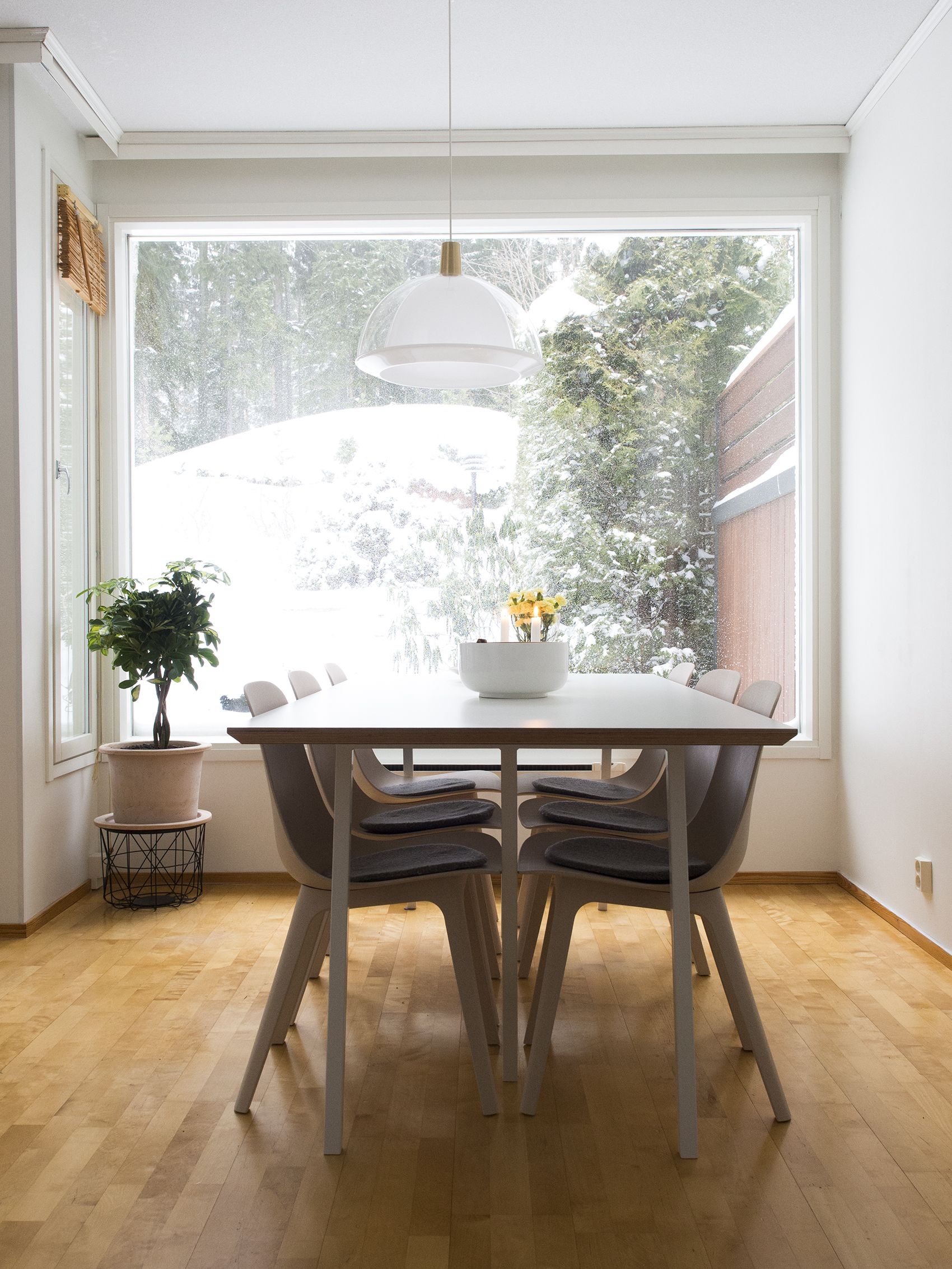 Uusi koti uudella paikkakunnalla - valoa tulvii ikkunoista